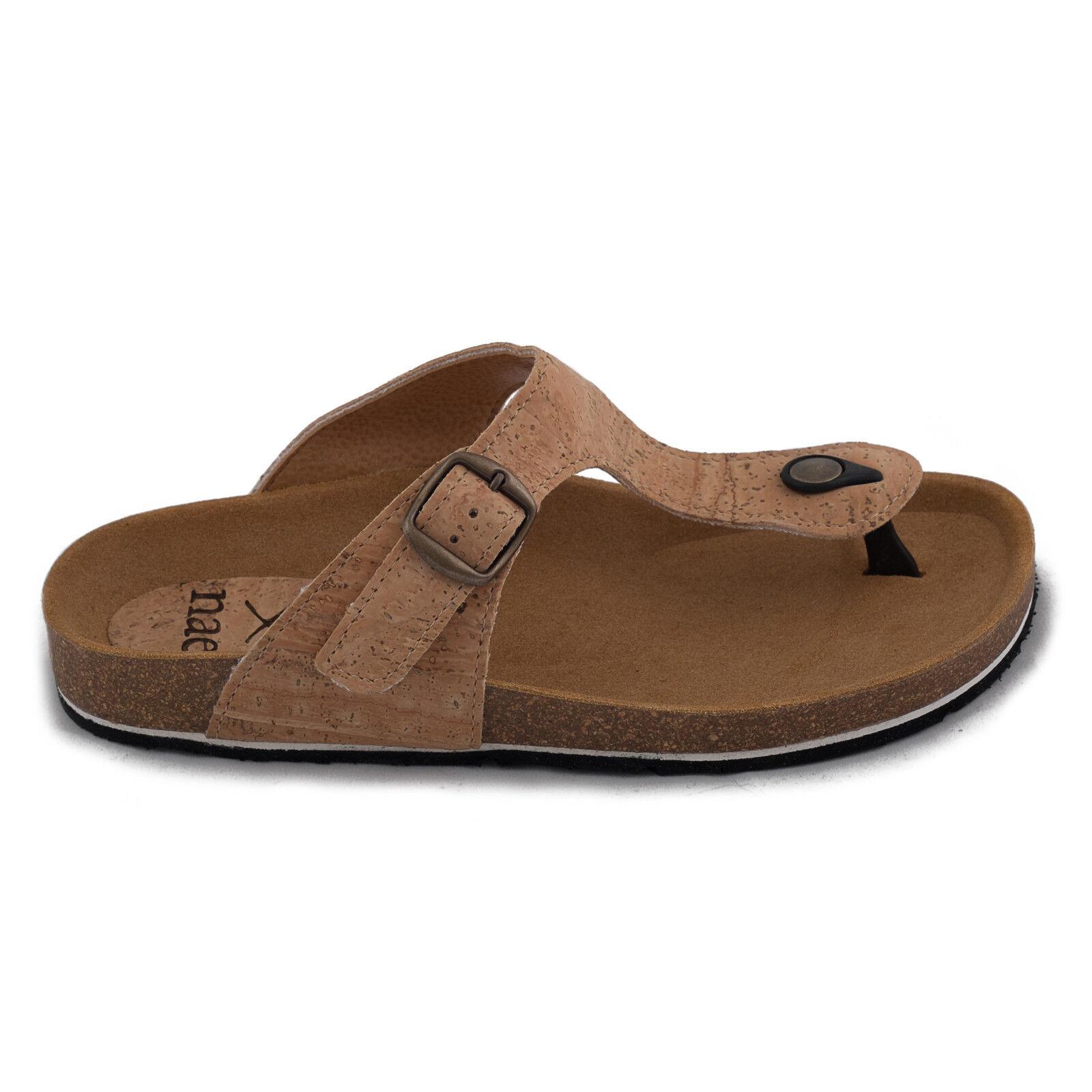 Donna vegan  sandal flip -flop lingua organica sughero e flat vegan sughero nae  in cerca di agente di vendita