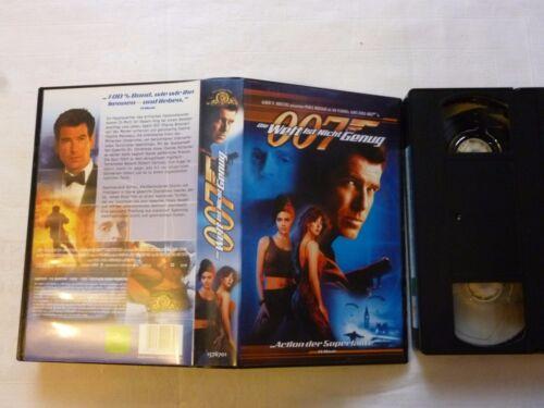 1 von 1 - James Bond 007 Die Welt ist nicht genug  FSK frei ab 12 Jahre VHS gebraucht