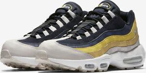 san francisco better official supplier Détails sur Hommes Nike Air Max 95 Essentiel Gris Bleu Jaune 749766 107  Taille UK