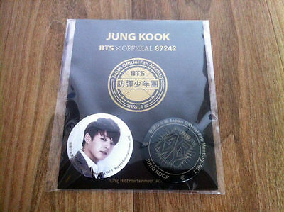 BTS JUNGKOOK BADGE JAPAN OFFICIAL FAN MEETING GOODS BANGTAN BOYS JUNGGUK RARE