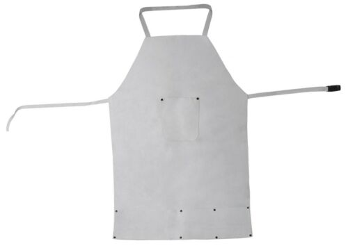 Pure Leather Heat Resistant Safety Apron Welding Melting Refining Gold Silver