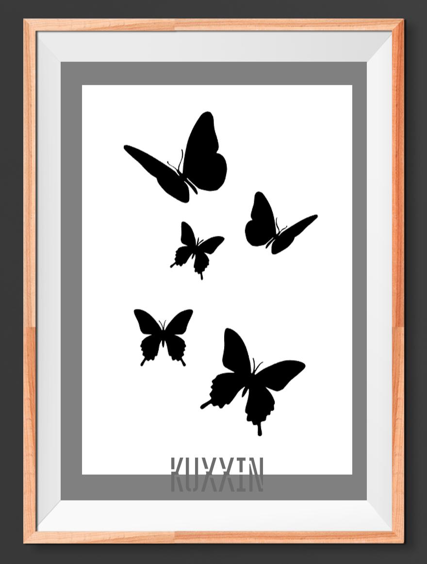 Butterfly K Animal Mylar 190 Stencil Reusable Airbrush Paint Crafts Butterflies