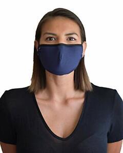 Travleisure Adjustable Reusable Washable Face Mask Adult Bamboo Navy 860003101421 Ebay