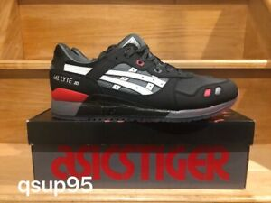 promo code d243c 9e4fc Details about Asics Gel-lyte III 3 Gi Joe Snake Eyes Black Red Grey Size  8-14 New