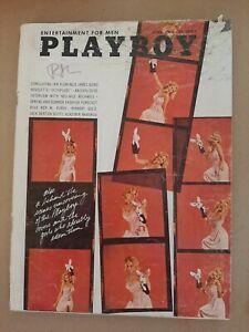 Vintage Playboy vintage magazine April 1966 centerfold Karla Conway, Octopussy