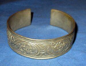 Bracelet-Vintage-Cuff-Afghan-Kuchi-Tribal-Alpaca-Silver-2-25-034-dia-Vintage