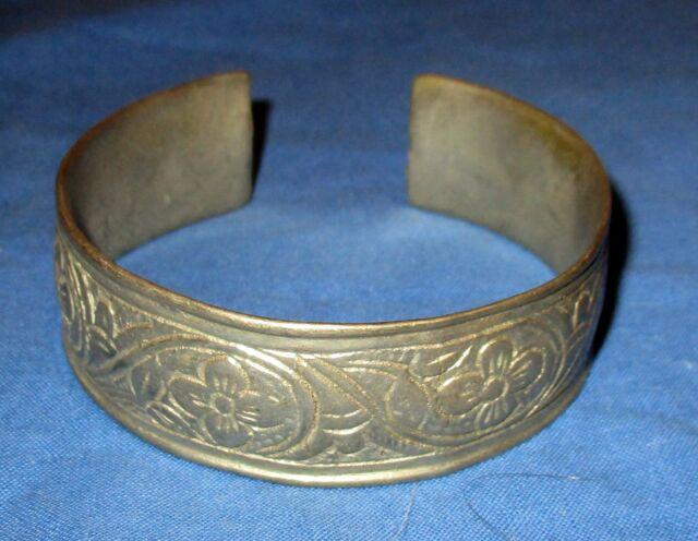 Bracelet Vintage Cuff Afghan Kuchi Tribal Alpaca Silver 2.25