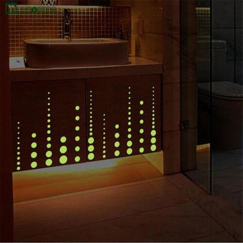 407pcs glow in the dark star wall stickers round dot luminous kids room HC