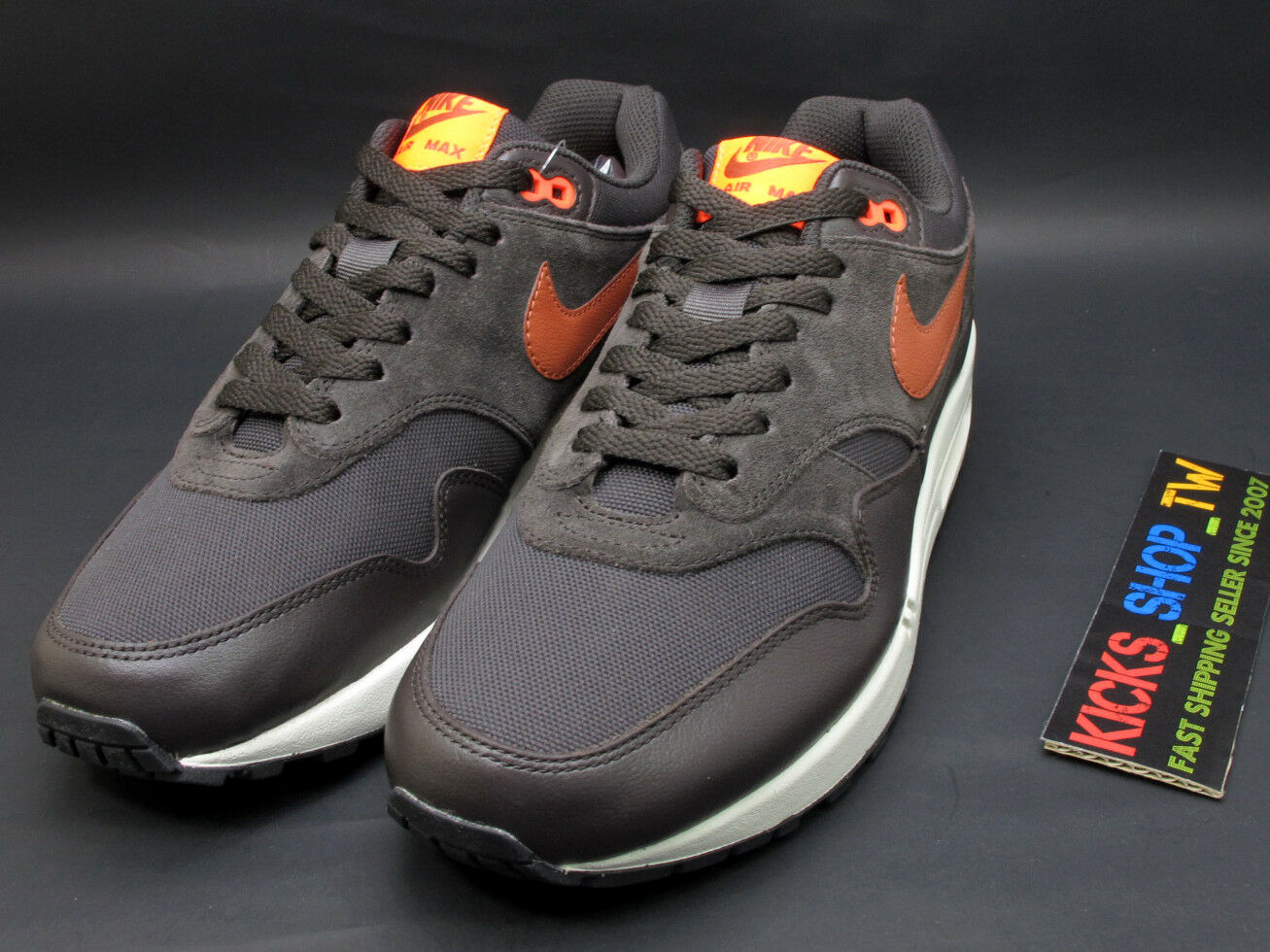 2018 NIKE AIR MAX 1 PREMIUM BROWN ORANGE SUEDE 875844-202 RUNNING ATMOS 30TH The latest discount shoes for men and women