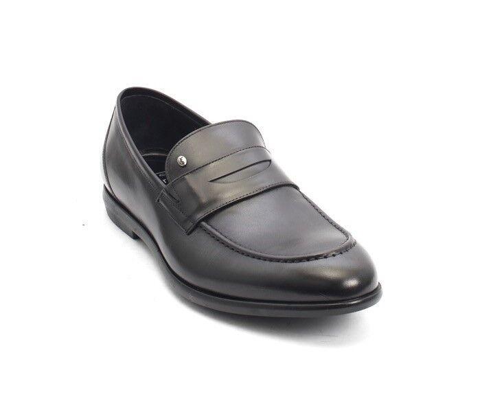ROBERTO SERPENTINI 45224b Black Nappa Leather Classic Dress shoes 42   US 9