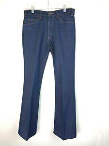 VTG-Levi-039-s-Men-039-s-517-Blue-Polyester-Orange-Tab-Bootcut-70s-Pants-Size-31x27