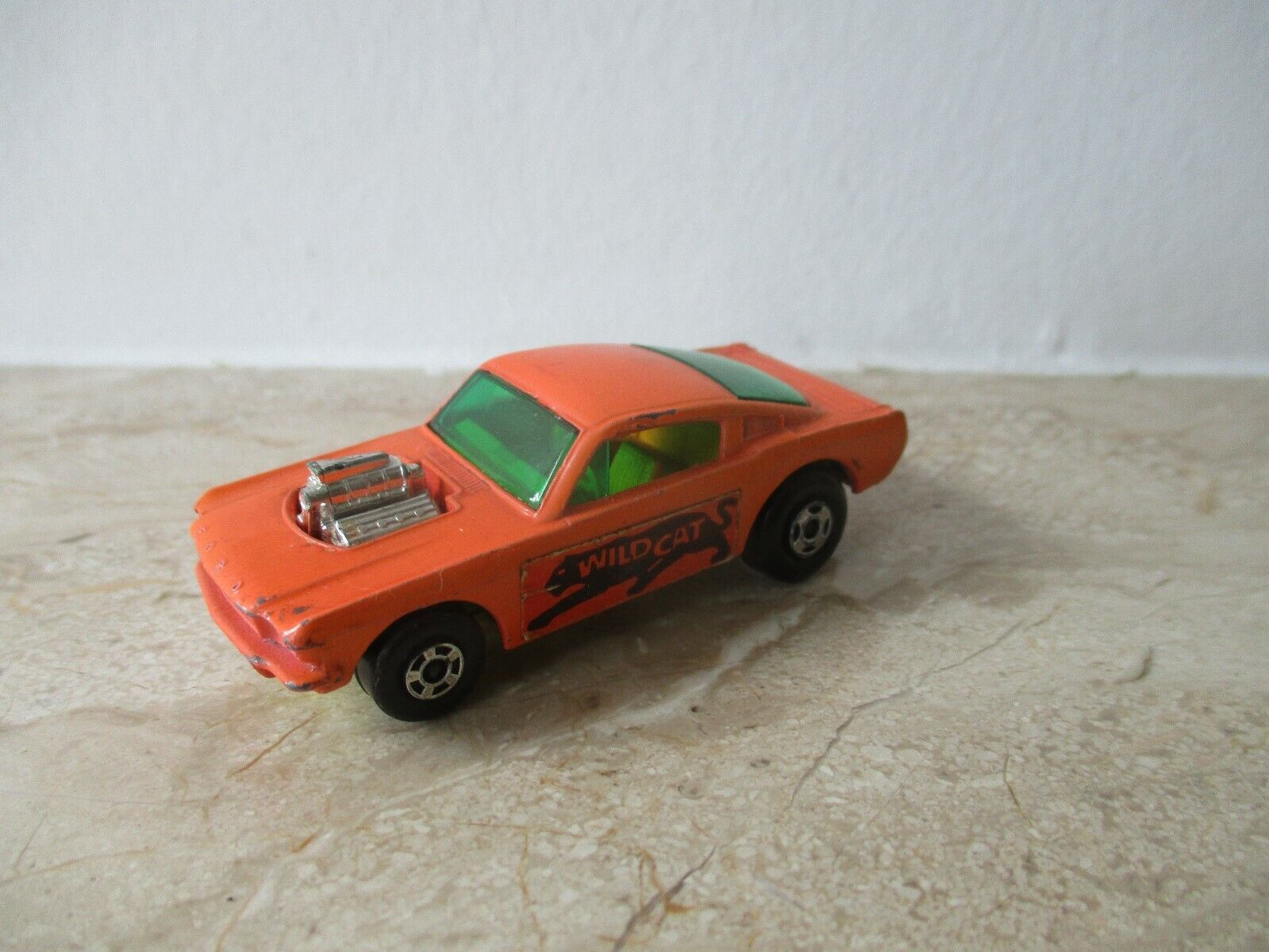 Old Matchbox Superfast No 8 Wildcat Dragster  with jaune BP. 1970 England  bonne qualité