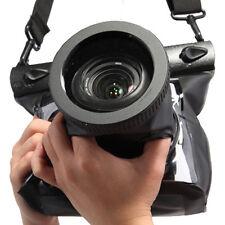 20M DSLR SLR Canon Nikon Camera Waterproof Underwater Case Bag Lens 14cm Black