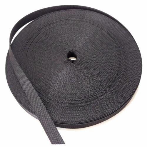 Professionale Cinghia per Tapparelle Nero Nastro Cintura Rullo 12mm Rollo Cavo