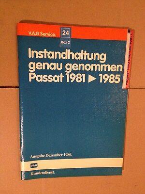 Gewijd Reparaturleitfaden Werkstatthandbuch Instandhaltung Vw Passat B2 32b 1981> 1985