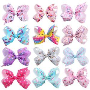 Fashion-JOJO-Bows-Hair-Clip-8-Inch-Bowknot-Headwear-Unicorn-Baby-Hair-Barrette