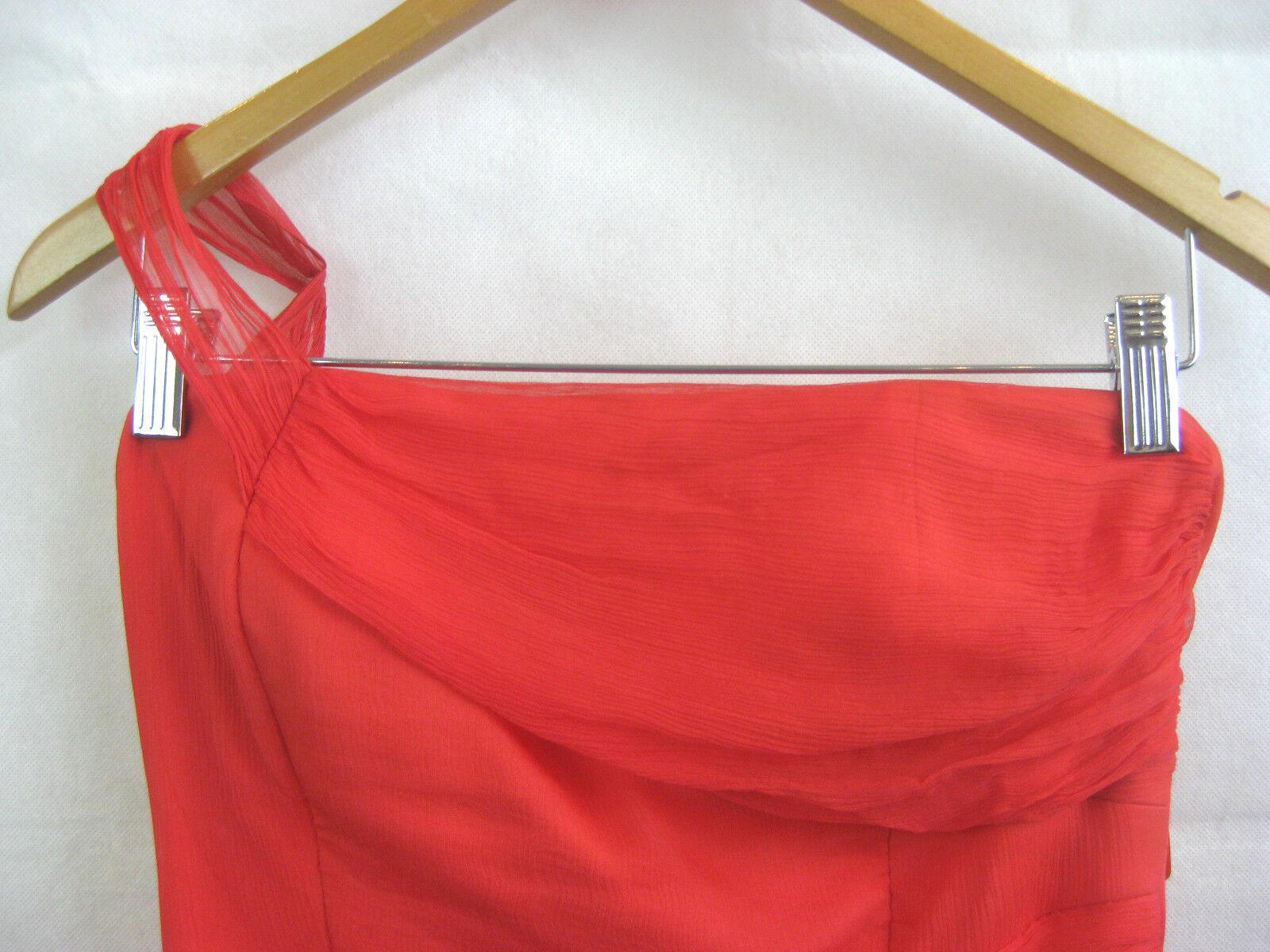 Studibaker Talla 8 Rojo Coral Diseñador Vestido Formal de de de Noche Vestido 17fdfa
