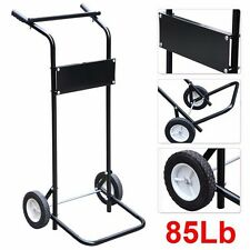 85 Lb 15hp Outboard Boat Small Motor and Engine Stand Steel Carrier Cart Dolly