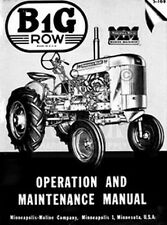 Minneapolis Moline Bg Operators Owners Maint Manual