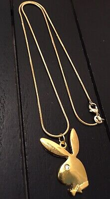 Gold plated playboy necklace