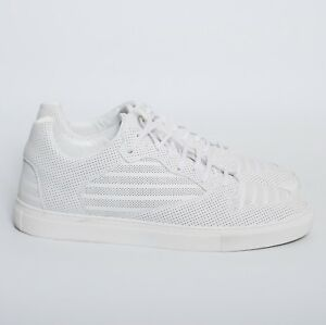 e46bd435f459 Image is loading BALENCIAGA-Men-White-Leather-Low-Top-Sneakers-Lace-
