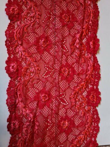 Rouge 150 mm doux élastique stretch brodé dentelle sous-vêtements Shabby Chic