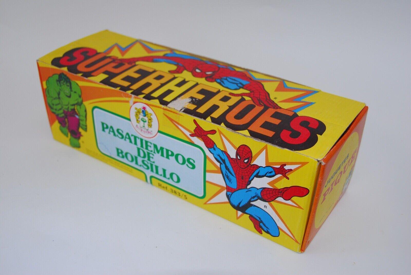 Vintage Marvel Super Heroes Spiderman Hulk Puzzle Games Box
