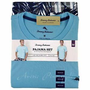 Tommy-Bahama-Men-039-s-Size-M-L-XL-XXL-Aqua-Bahama-Plaid-Pajama-2-Piece-Set-NWT-78
