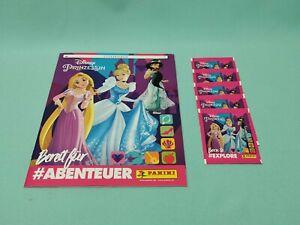 Panini-Disney-Prinzessin-Sticker-Sammelalbum-5-Tueten-Princess