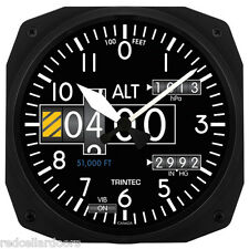 "New Trintec 10"" Modern Altimeter Style Aviation Instrument style Clock 3020-10"