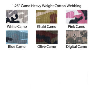 "1 Yard 1.25/"" Medium Heavy Weight Cotton Webbing 44 Colors to Choose"