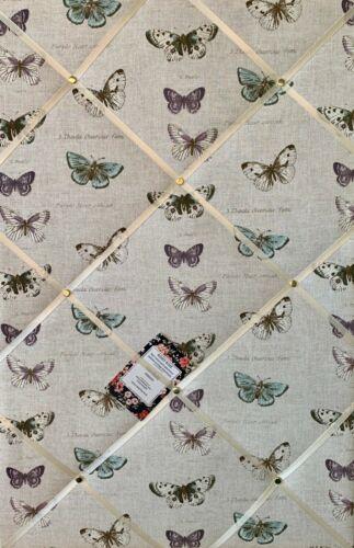 Fryetts Papillon Handcrafted Fabric avis Pin Mémo Liège photo mémoire PIN Board