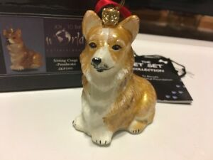 image is loading pembroke welsh corgi dog polish glass christmas ornament - Corgi Christmas Ornaments