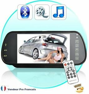 retroviseur voiture kit main libre bluetooth camera de recul mp3 mp4 mp5 fm 2 ebay. Black Bedroom Furniture Sets. Home Design Ideas