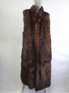 petit taille fourrure en Excellent femme opossum gilet marron femme q4xw860x
