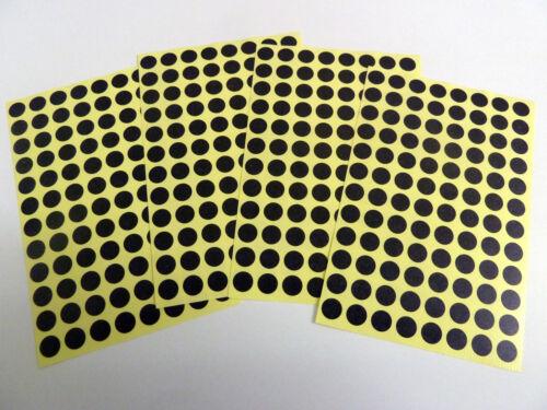 Gefärbt 8mm Runder Aufkleber Selbstklebeetiketten Verschiedene