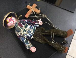 Marionnette en composite vintage marionnette panthère rose incognito déguisée