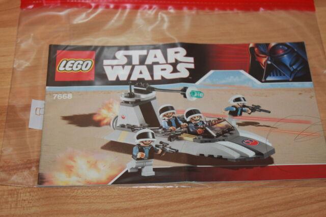 keine Steine! Bauanleitung Lego Star Wars # 7668 Rebel Scout Speeder