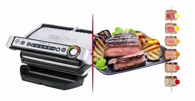 tefal gc702d electric grill optigrill 2000w 6 programs non stick coating new ebay