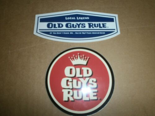 2 OLD GUYS RULE LOCAL LEGEND and ROUND CROWN  STICKERS