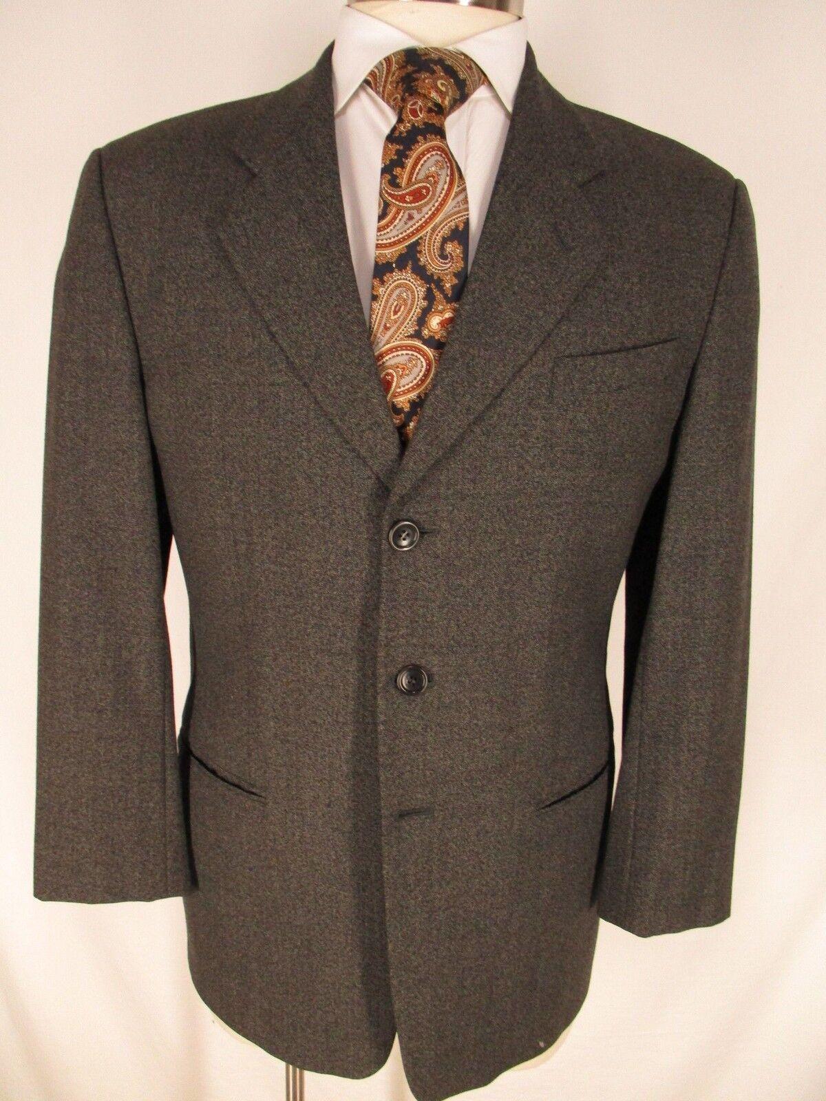 Armani Collezioni Mens Charcoal 3 Btn Sport Coat 40S  Made