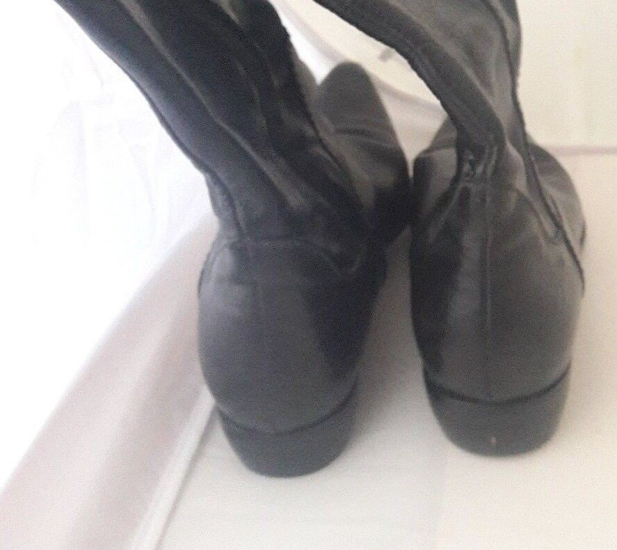 AUTH HENRY BEGUELIN  KNEE Boots in in in Black LEATHER   size 37 e1ca18