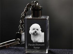 Dandie Dinmont Silver Keyring