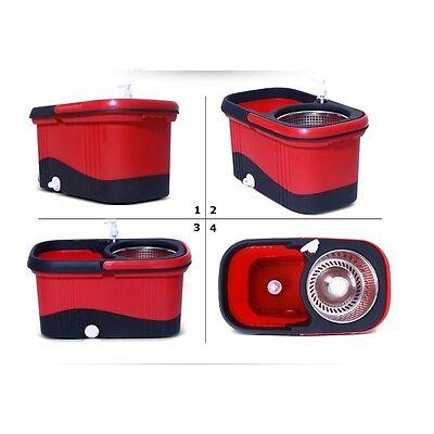Square Magic Mop Spin dry 360 Degree Rotating-BQ-200- RD