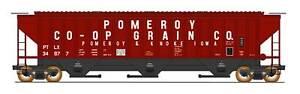 Pomeroy Co-Op Grain 4750 Cu. ft. 3-Bay Hopper #34878 HO InterMountain #453108-04
