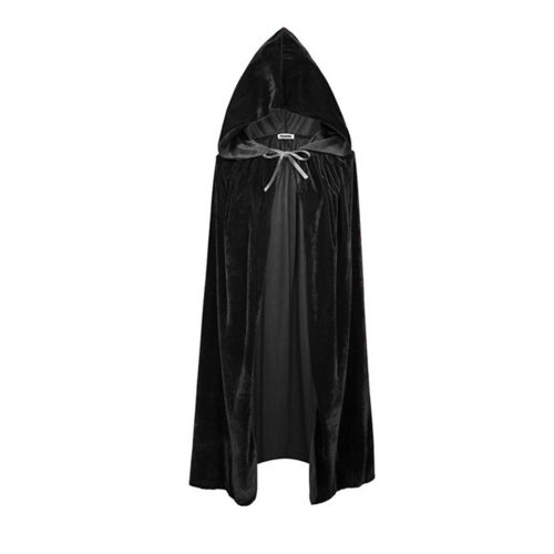 Halloween Costumes Velvet Hooded Cloak Cape Medieval Pagan Witch Vampire Wicca