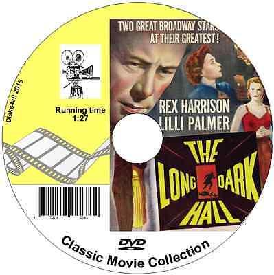 The Long Dark Hall - Rex Harrison, Lilly Palmer - British Movie Film on DVD  1951   eBay