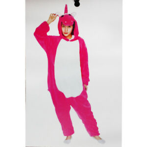 selezione premium 368b1 96562 Dettagli su Tuta Pigiama Onesie Carnevale Halloween Uomo Donna Unisex  Unicorno Fuxia