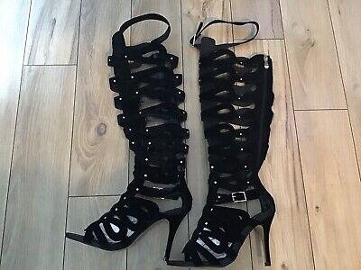 Open Toe High Heel Boots Size 8 NWOB
