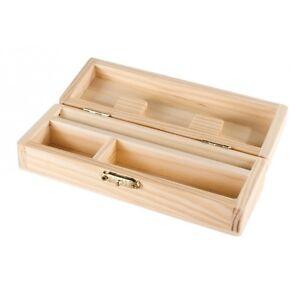 Rolling Supreme Small Wood Stash Box Cigarette Rolling Paper Tray